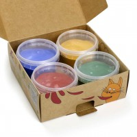 Bio Fingerfarben für klein Kinder 4er Set AKI