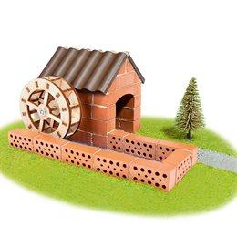 Steinbaukasten Wassermühle 60tlg 6-12+ Jahre