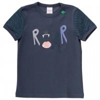 Shirt kurzarm Safari-Druck dunkelblau