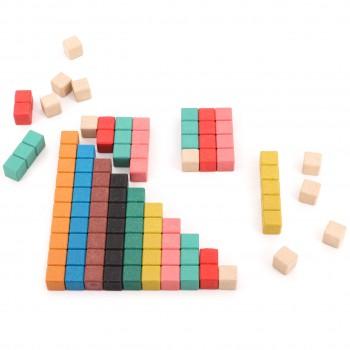 Rechenstäbe farbig aus RE-Wood® - 30 Stück