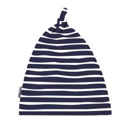 Softe Kinder Knoten Mütze marine gestreift