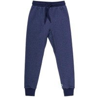 Robuste Denim Sweat Jogginghose in blau