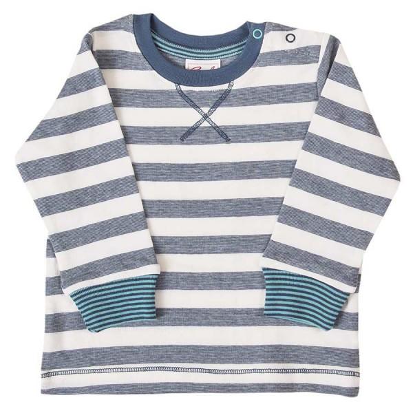 Klassiker gestreiftes Langarmshirt elastisch blau