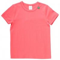 Shirt kurzarm Basic in koralle