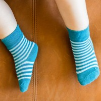 2 Paar Socken blau gestreift