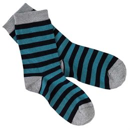 Socken Ringel blau-navy Feinstrick