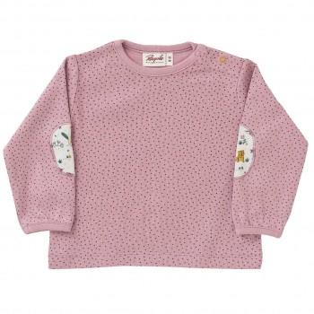 Langarmshirt Patches Pünktchen in rosa