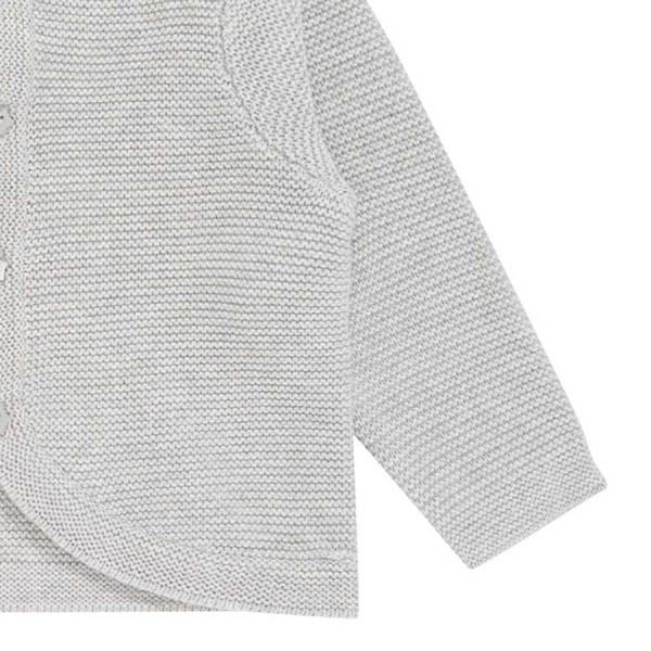 Strickjacke Kapuze weit geschnitten grau