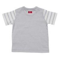 Vorschau: Leichtes Baby Shirt mit Druckknöpfen am Hals grau