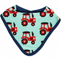 Leichtes Dreiecktuch Traktor in hellblau
