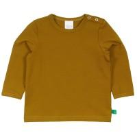 Dehnbares Basic Langarmshirt in safran