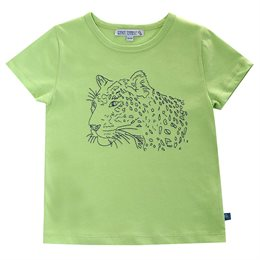 Cooles Leoparden Stickerei T-Shirt