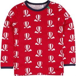 Heißluftballon Shirt im kräftigem rot