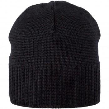 Erwachsenen Wintermütze Wolle mit extra Ohren-Wollfleece Band schwarz