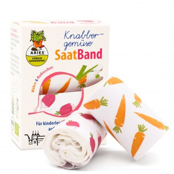 SaatBand für Knabbergemüse Möhren und Radieschen