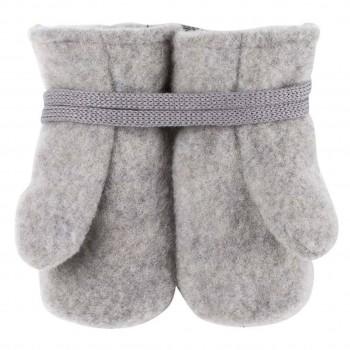 Woll Fleece Baby Fäustel grau