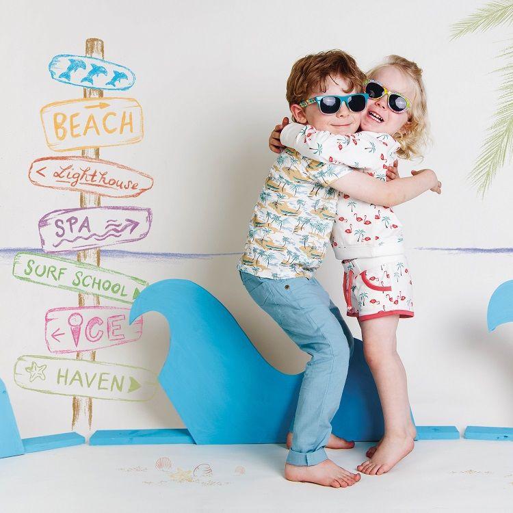 leichte kinder sommerhose für jungen  mädchen  blue