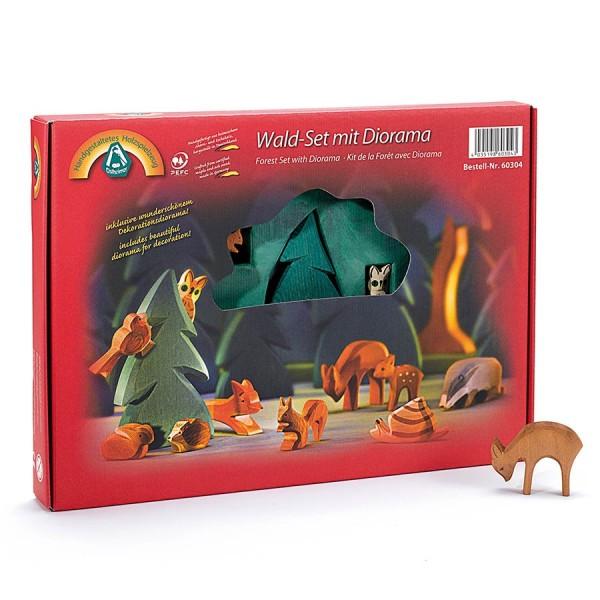 Wald Set mit Diorama 12 Teile