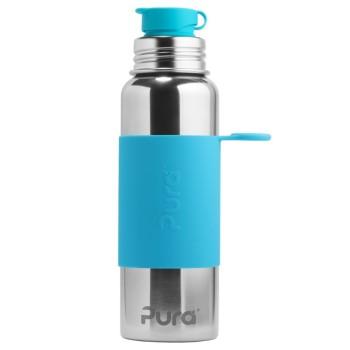 Grosse Pura Edelstahl Trinkflasche 800 ml blau