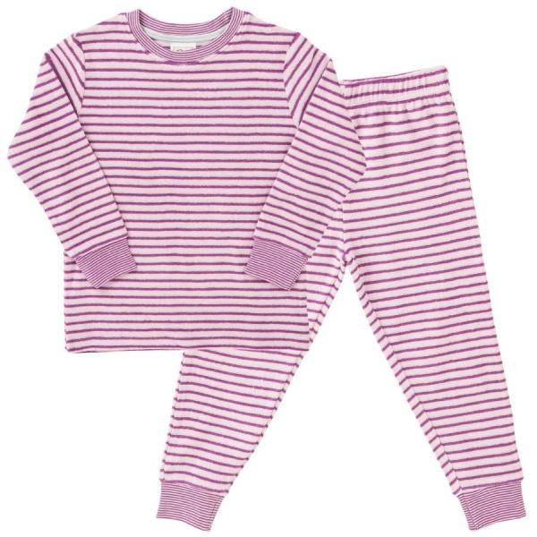 Rosa Frottee Mädchen Schlafanzug