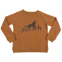 Pullover Sweat Wolf in hellbraun