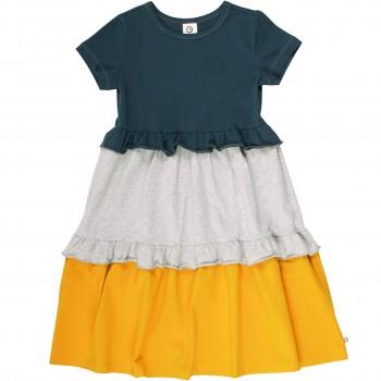 Hochwertiges Kleid Block-Design dunkelblau
