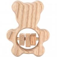 Babyrassel Bär aus Holz für Babys ab 0 M.