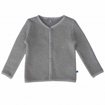 Graue edle Kinder Strickjacke