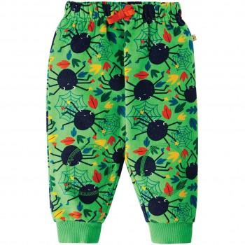 Bequeme Krabbelhose Spinnen in grün