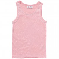 Mädchen Unterhemd Pünktchen rosa