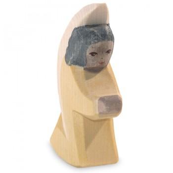 Engelchen Figur gelb Holzfigur 8 cm hoch