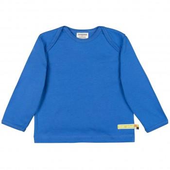 Langarmshirt Jersey uni blau