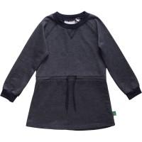 Vorschau: Stretch Mädchenkleid langarm aus softem Jersey Jeansoptik