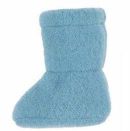 Warme Baby Schuhe aus Bio Schurwolle beige blau
