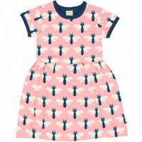 Flatter Kleid kurzarm elastisch Libellen