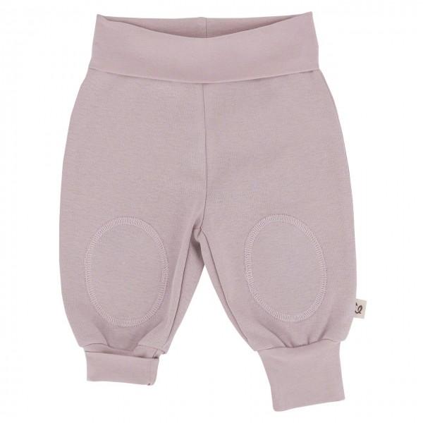 Mitwachsende Hose mit breiten Bündchen - zart Altrosa