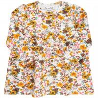 Kleid Blumen-Druck langarm
