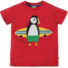 T-Shirt Papageitaucher Aufnäher rot