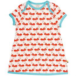 Kleid Ameisen orange