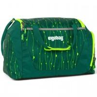 Kinder Sporttasche 20 Liter grün Muster fluoreszierend