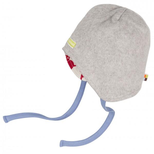 loud and proud Winter- Übergangsmütze mit Bändern hellgrau