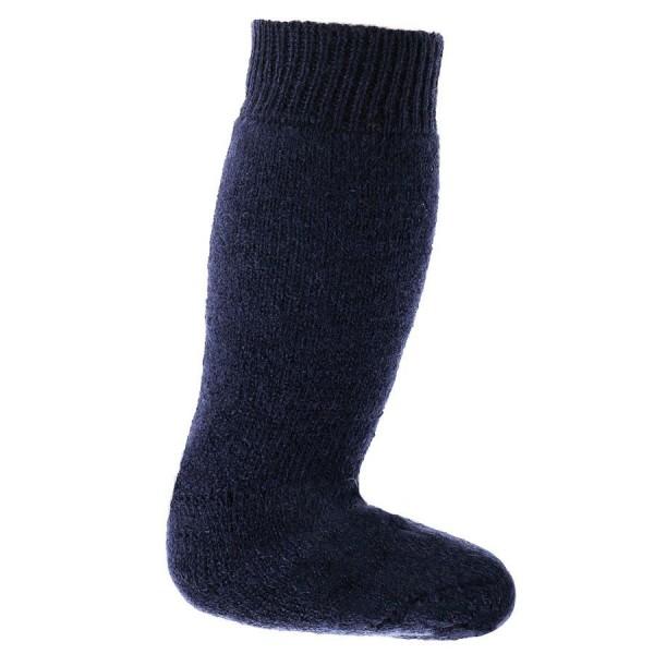 Lange Vollplüsch Socken Wolle warm dick marine
