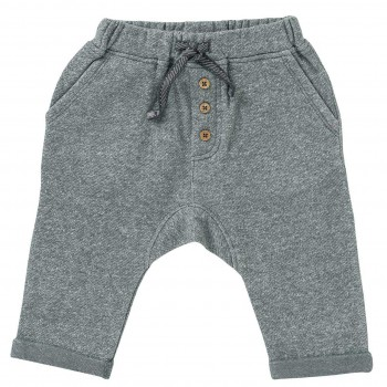 Sweat Babyhose in schiefergrau melange