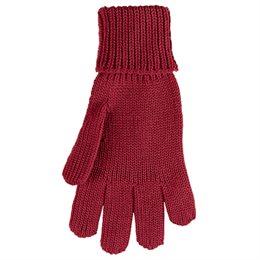 Fingerhandschuhe Wolle Seide rot orange