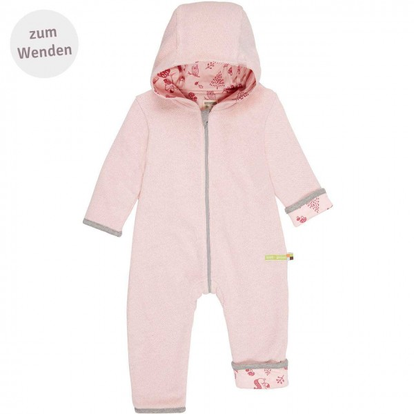 Wendeoverall aus Strick rosa