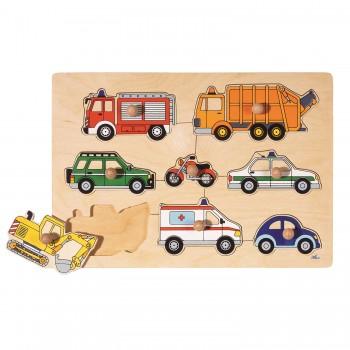 Steckpuzzle Fahrzeuge - 8 tlg