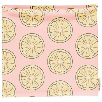 Schlauchschal leicht Zitronen in hellrosa 98/104