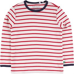 Robustes dickeres Langarmshirt weiß rot