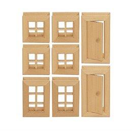 Fenster & Türen 8-tlg. Baukasten System - freies Bauen & kons