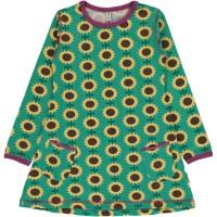Tunika Sonnenblumen langarm grün